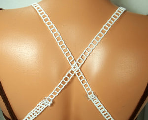 White Adjustable Beaded Bra Straps DIY Kit