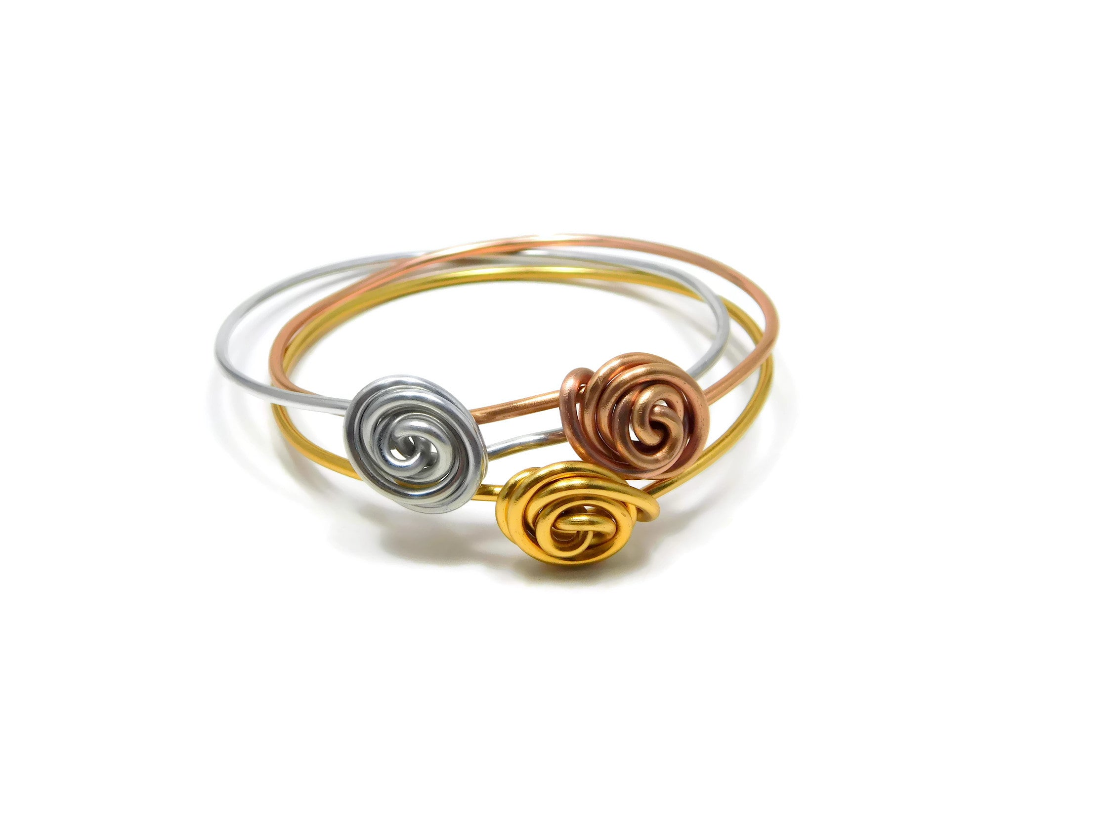 Stackable Rosette Bangle Bracelet DIY Wire Wrapping Kit