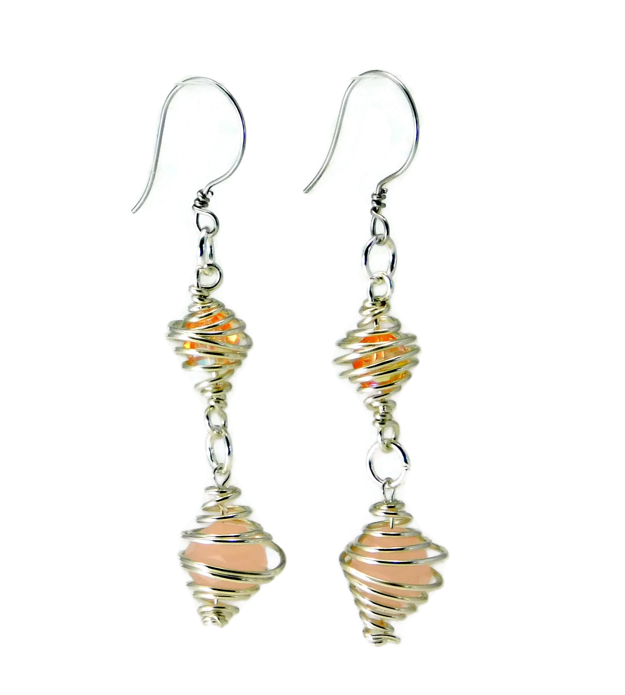 Caged Swarovski Crystal Earrings DIY Wire Wrapping Kit