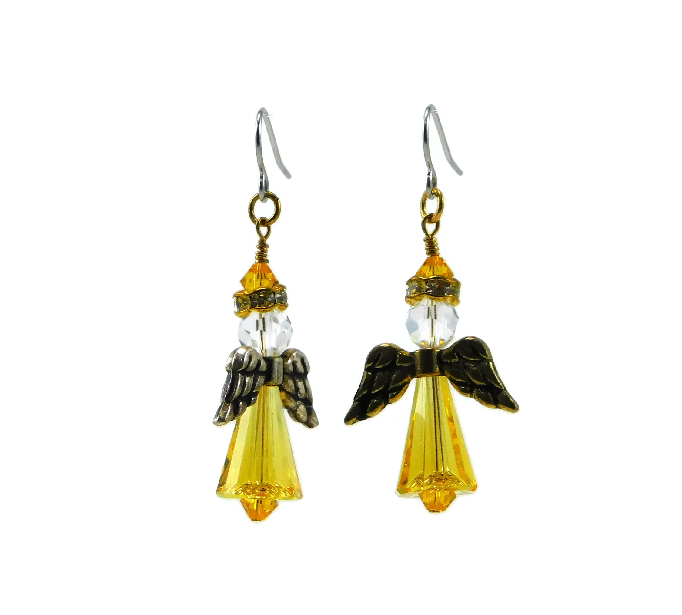 Swarovski Angel Earrings