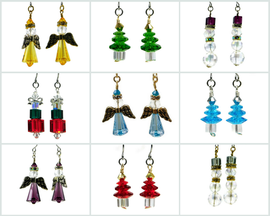 Wire Wrapping GutsyGuide: Swarovski Christmas Earrings Full Kit