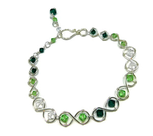Swarovski Infinity Link Ankle Bracelet DIY Wire Wrapping Kit