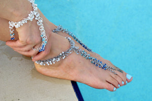 Beaded Barefoot Sandal Only Chainmaille GutsyGuide Kit for Mastering the Basics Course