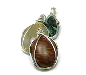 DIY Wire Wrapping Kit Simple Cabochon Pendant