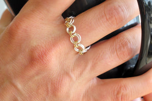 DIY Chain Mail Silver and Gold Mini Link Ring Kit