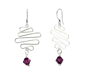 Swarovski Crystal Scribble Earrings DIY Wire Wrapping Kit