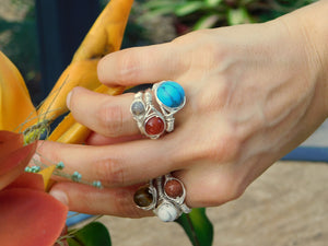 Stackable Gemstone Ring DIY Wire Wrapping Kit