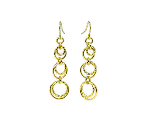 Textured Circled Dangle Earrings Chainmaille DIY kit