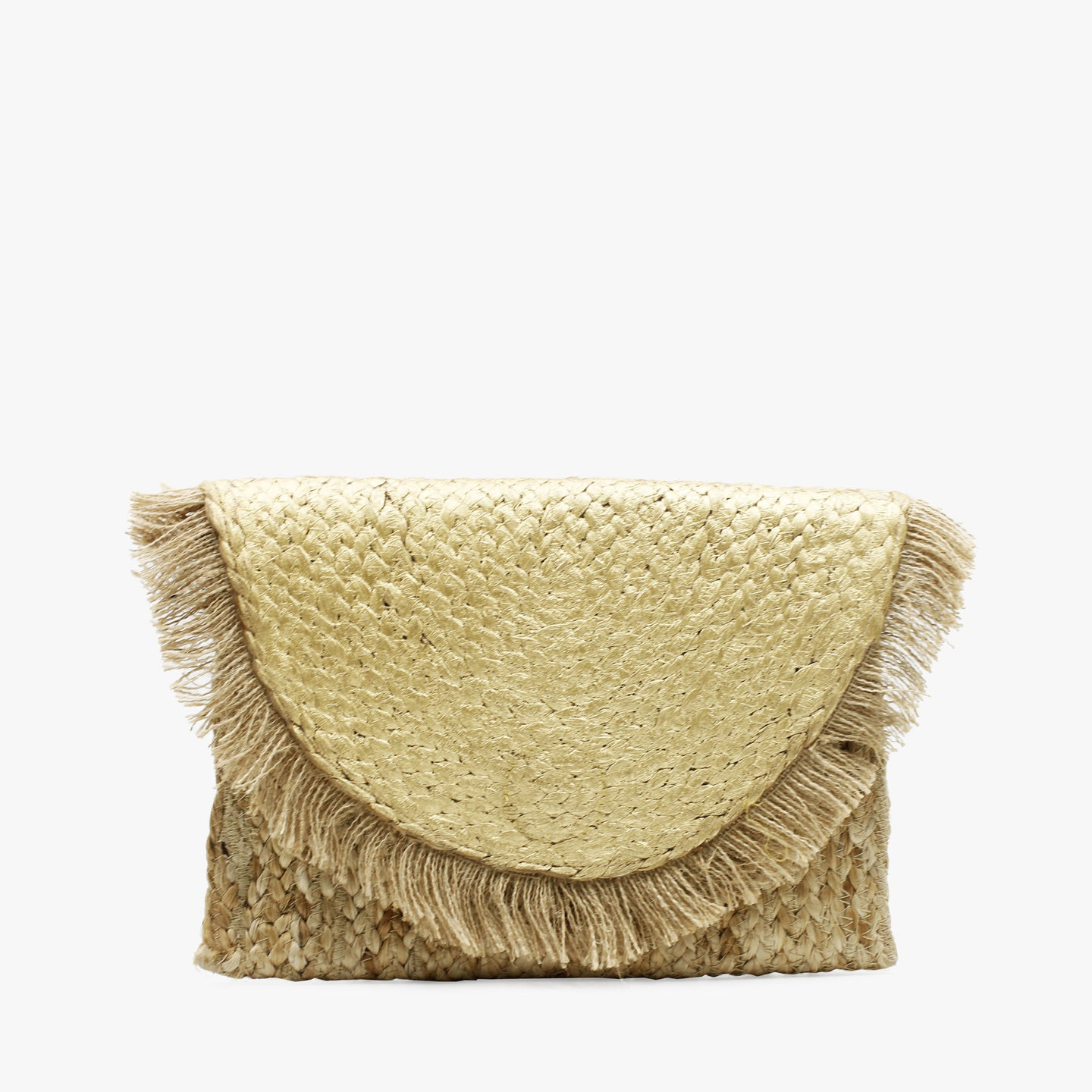 Clutch Gold Palm tejido
