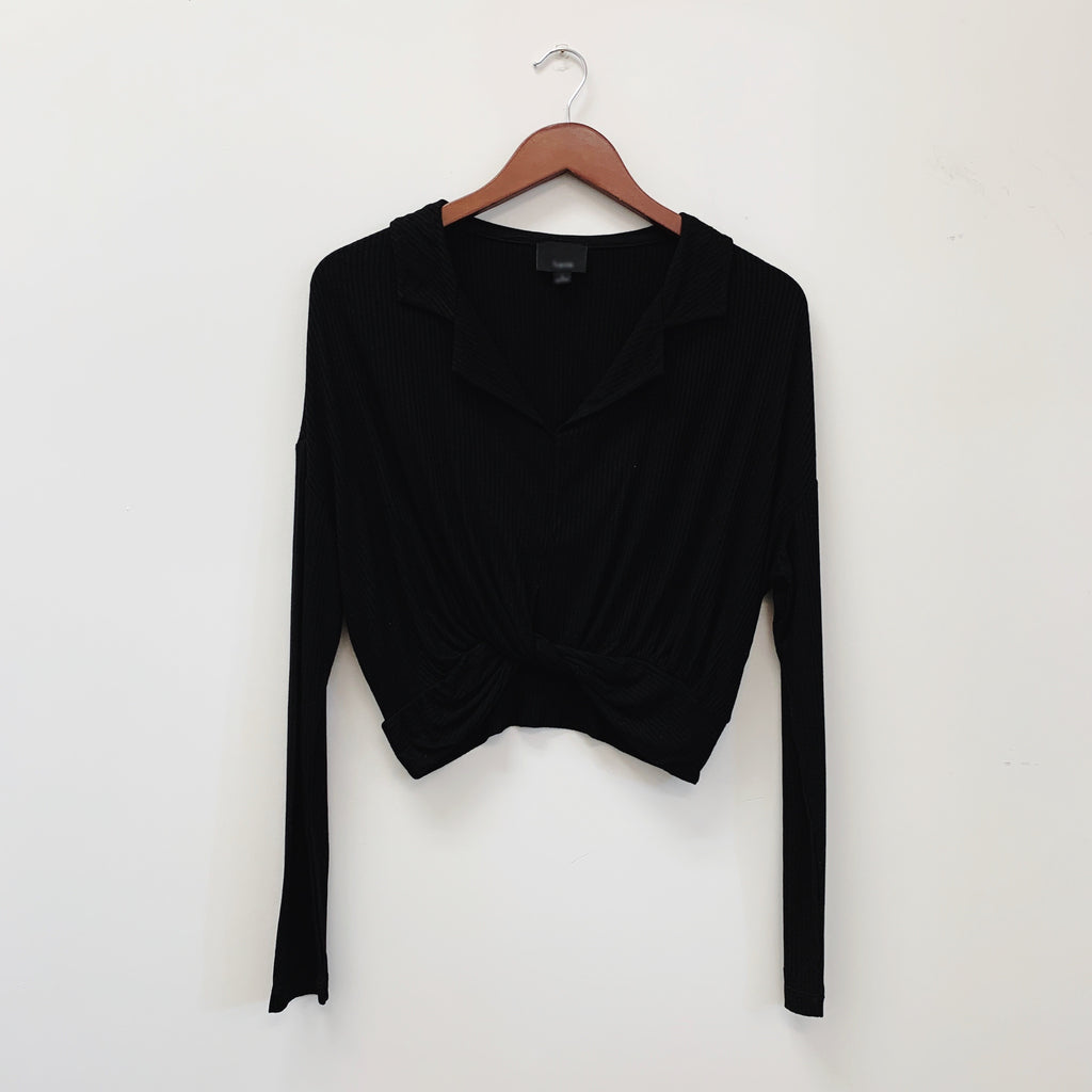 The Henley Collard Blouse | Black |