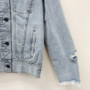 The Rodney Distressed Denim Jacket | Light Wash |