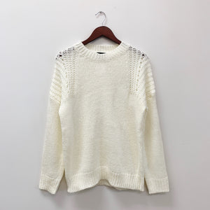 The Barrett Knit Pullover Sweater | Ivory |
