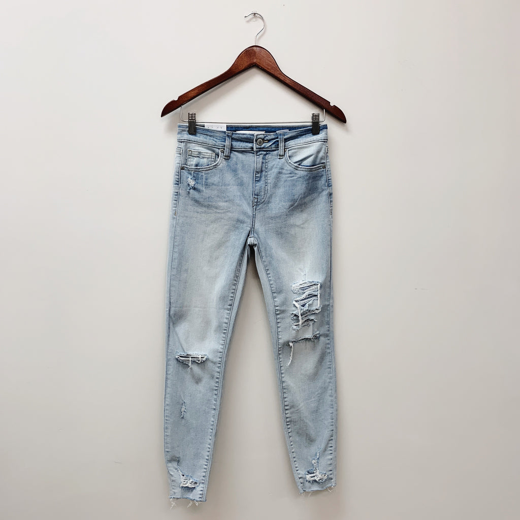 The Clara High Rise Skinny Crop Denim | Light Wash |