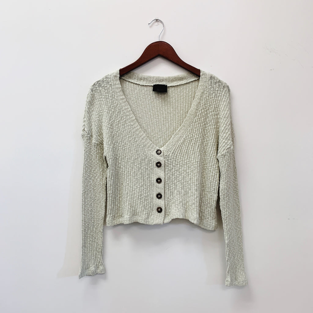 The Madalyn Button Front Sweater | Mint |