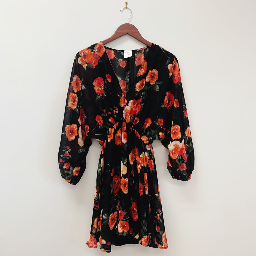 The Savana Floral Dress | Black |