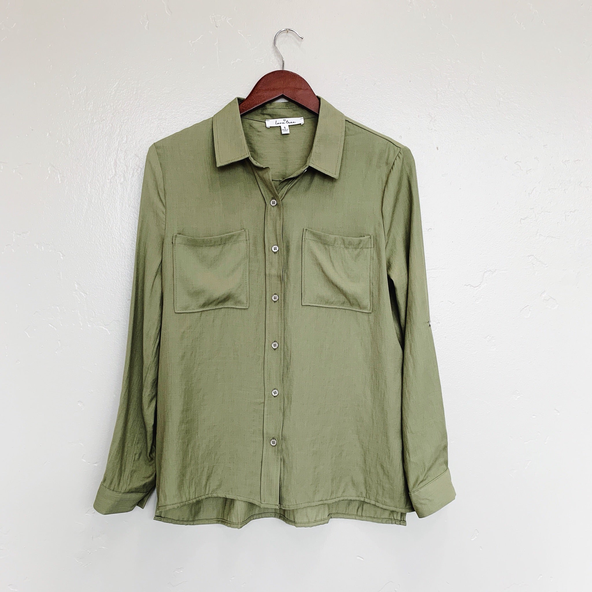 The Sierra Button Up Blouse | Olive |