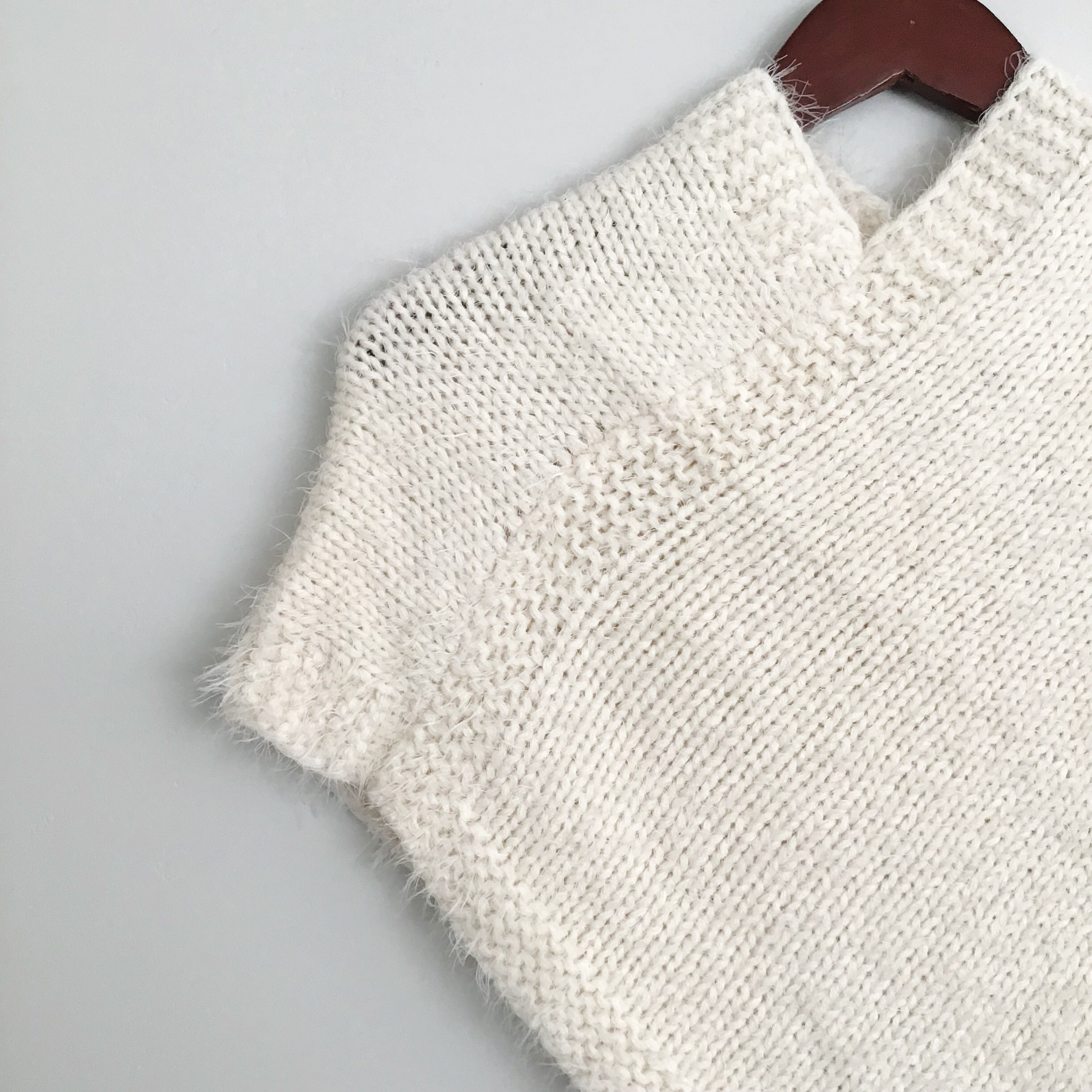 The Bella Mohair Kids Poncho | Ivory |