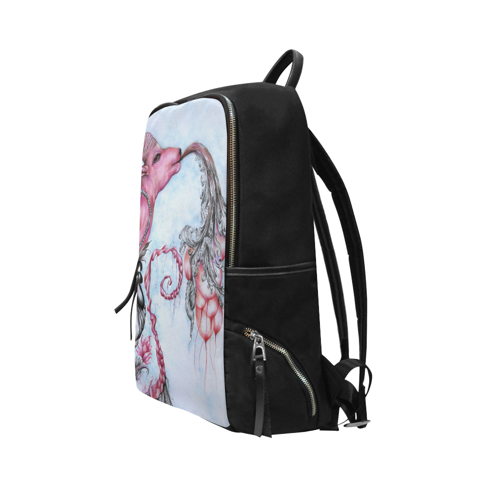 wanderlust Unisex Slim Backpack (Model 1664)