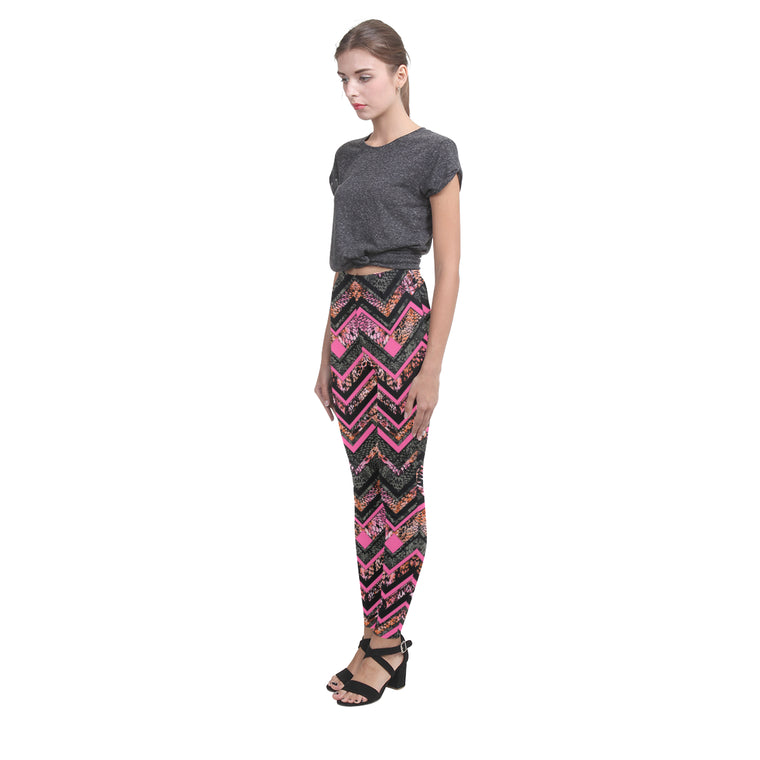 chevronnc4F Cassandra Women's Leggings (Model L01)