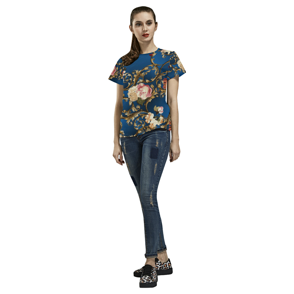 SANYA All Over Print T-Shirt for Women (USA Size) (Model T40)