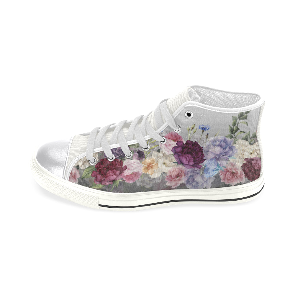SANDRA Women's Classic High Top Canvas Shoes (Model 017)