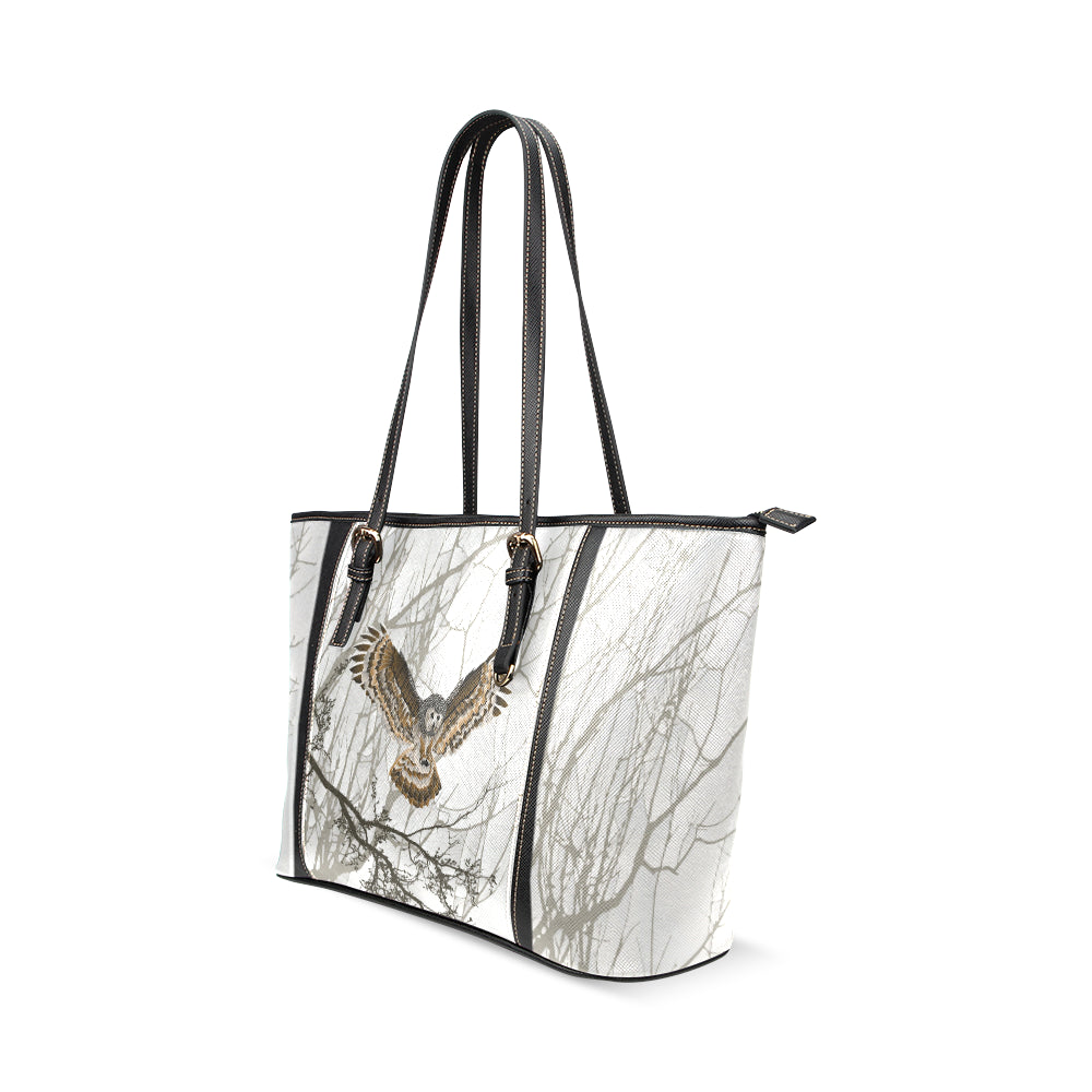 Night Owl Leather Tote Bag/Large (Model 1640)