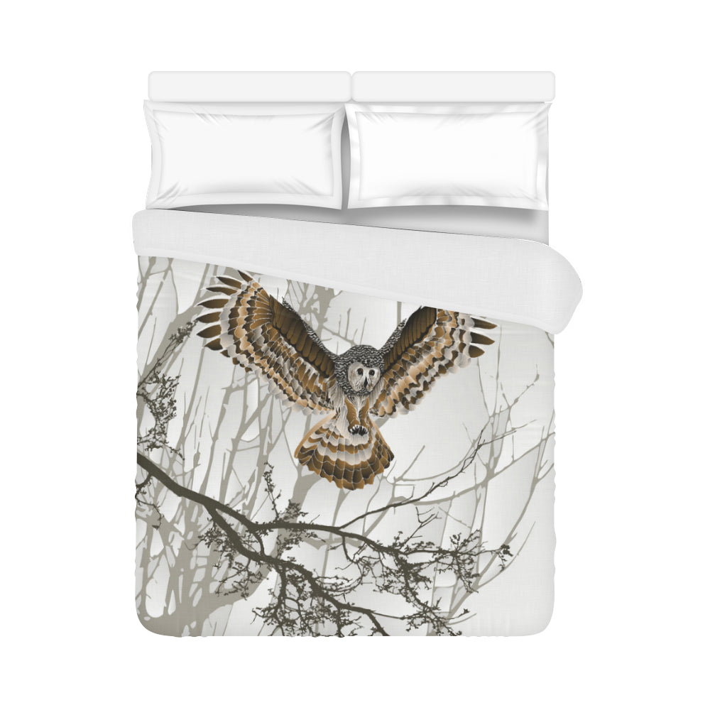 "Night Owl Duvet Cover 86""x70"" ( All-over-print)"