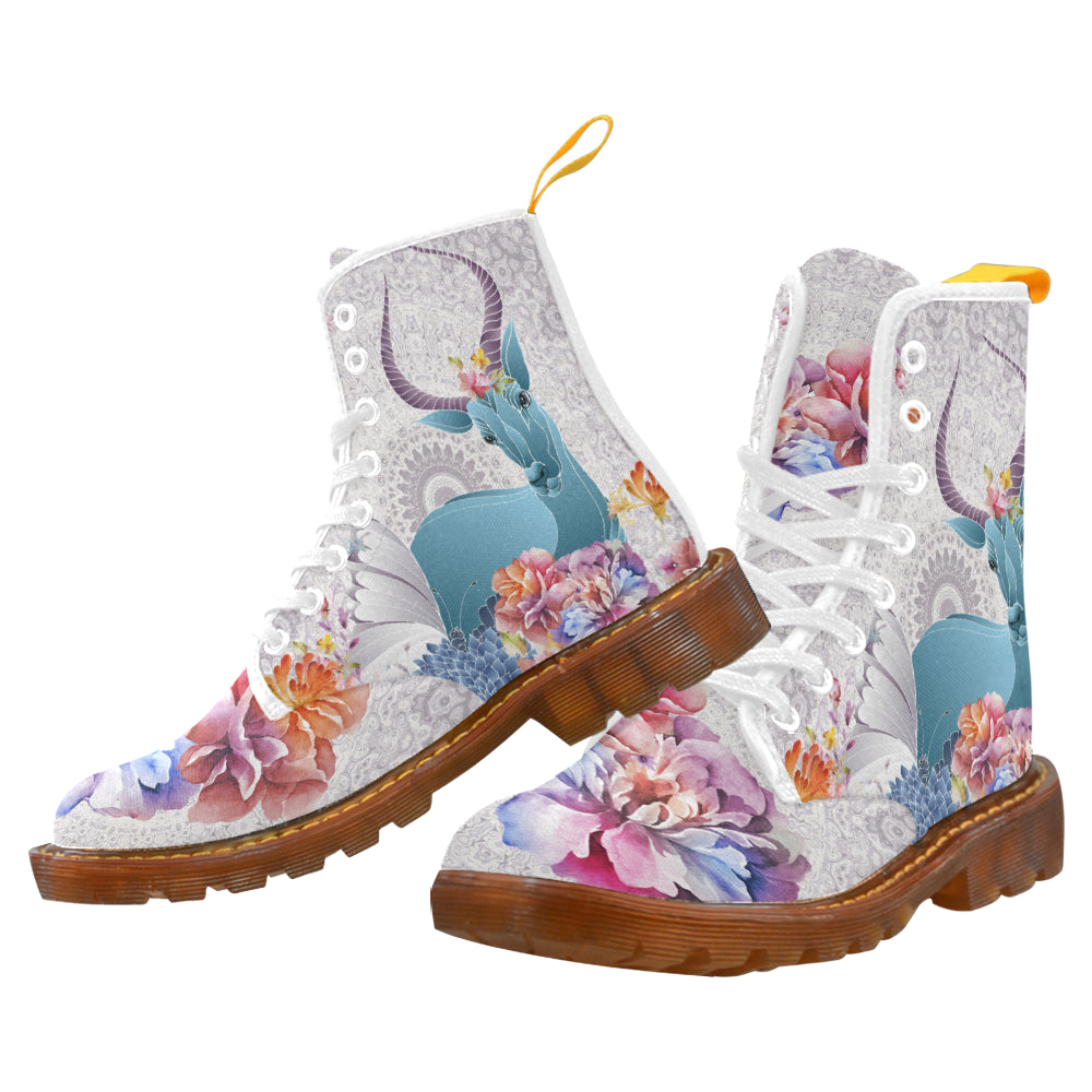 Flower Field Magic Martin Boots For Women Model 1203H