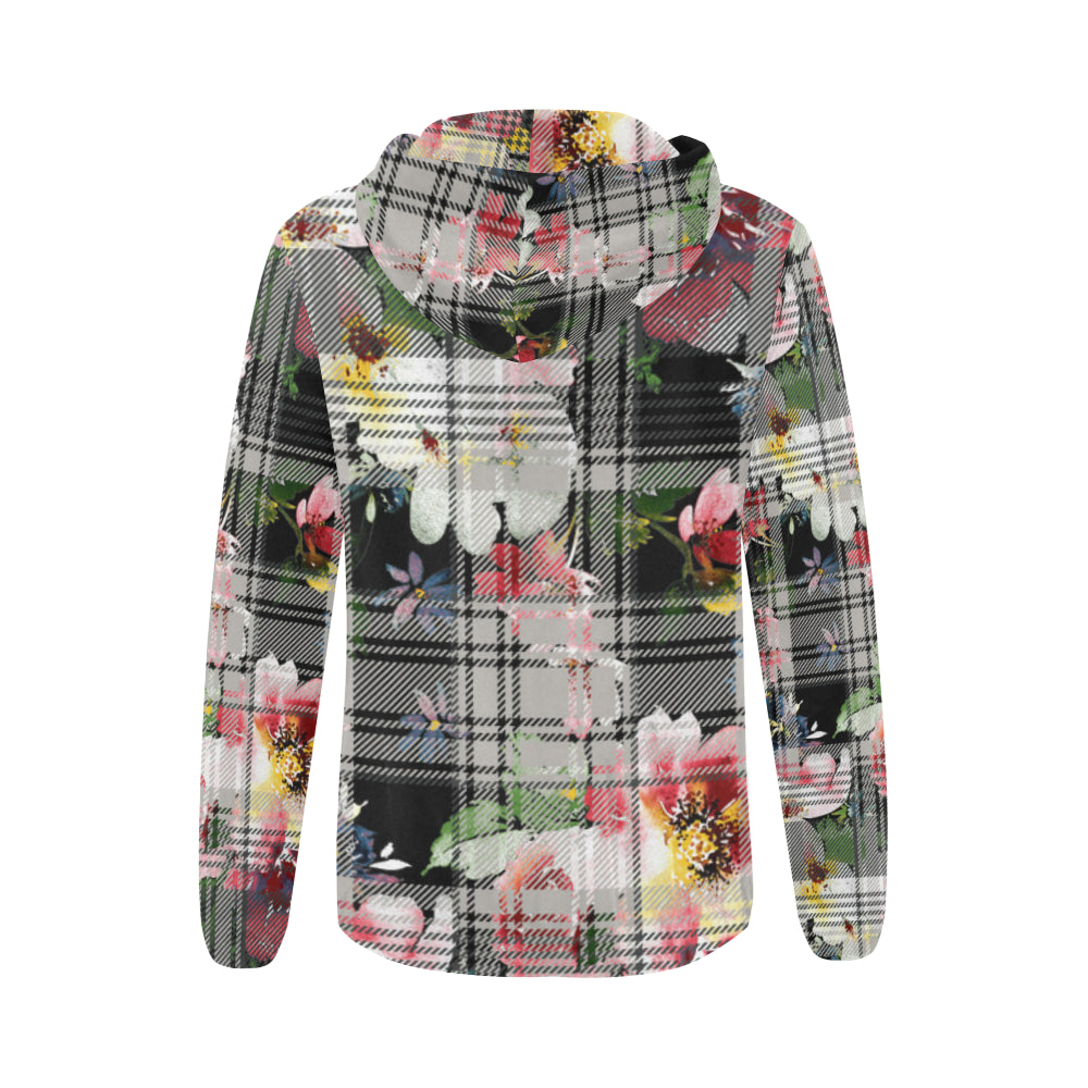 VIVIAN All Over Print Full Zip Hoodie for Women (Model H14)
