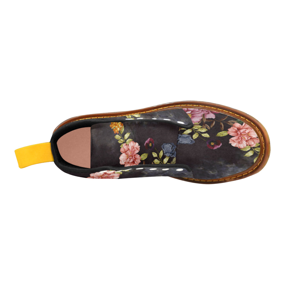 DARK FLORAL Martin Boots For Women Model 1203H