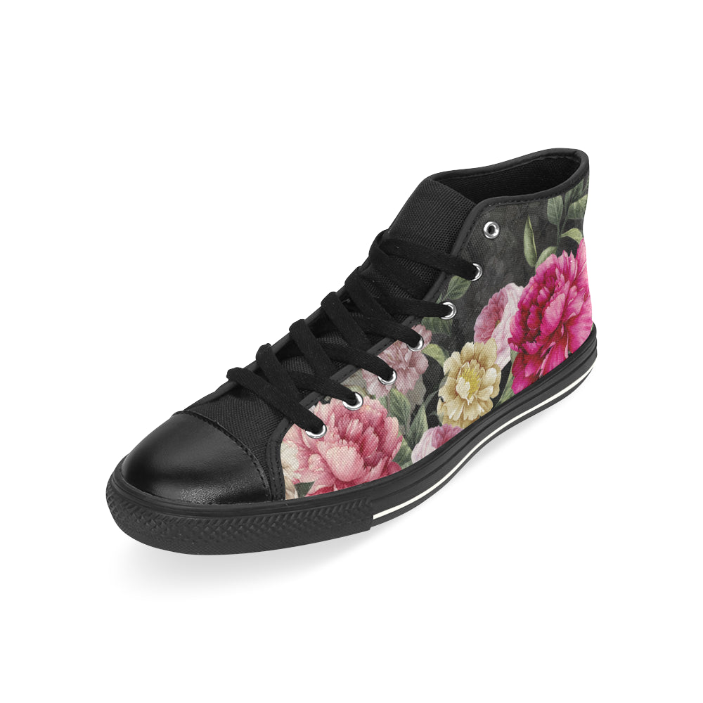 VERONICA High Top Canvas Women's Shoes/Large Size (Model 017)