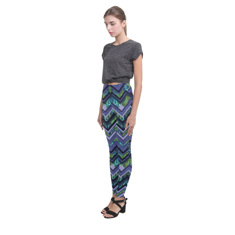 chevronA Cassandra Women's Leggings (Model L01)