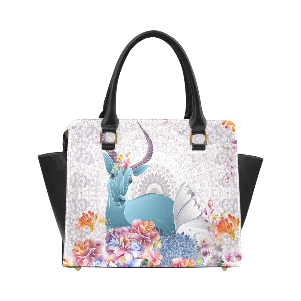 RAM AND FLOWER Classic Shoulder Handbag (Model 1653)
