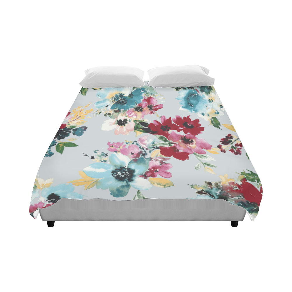 "TALIA grey Duvet Cover 86""x70"" ( All-over-print)"