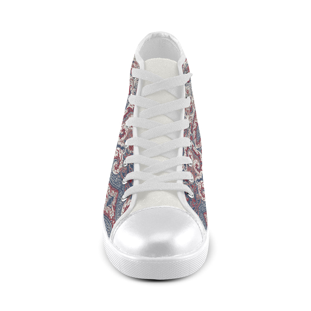 HELENA Women's High Top Canvas Shoes (Model 002)