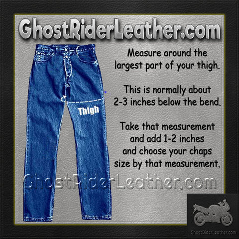 How to size leather chaps. How to measure my thigh for chaps.