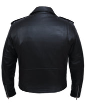 UNIK TALL Men's Premium Leather Motorcycle Jacket - SKU GRL-13-ZO-UN - Ghost Rider Leather