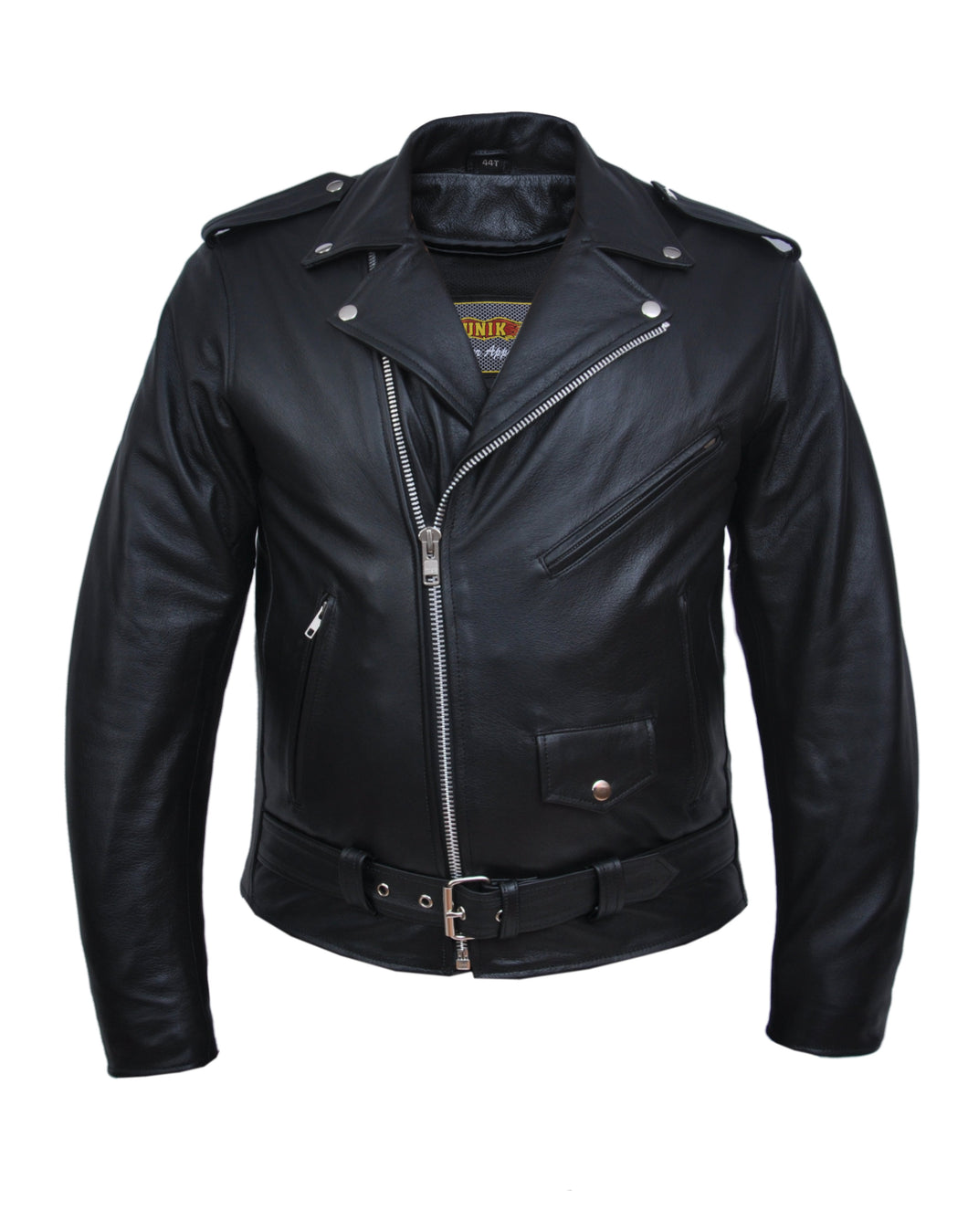 UNIK TALL Men's Premium Leather Motorcycle Jacket