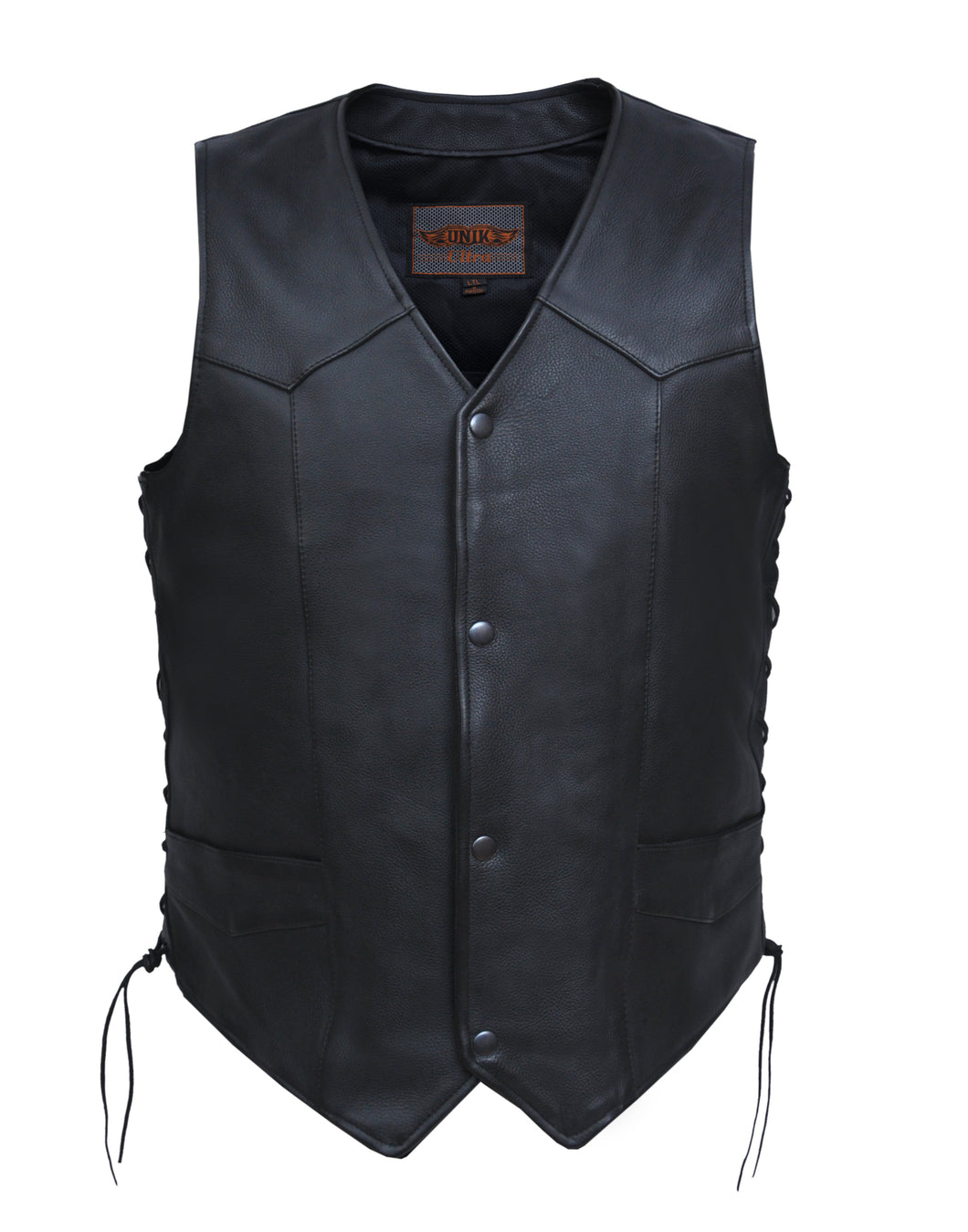 UNIK Men's Ultra Leather Motorcycle Vest