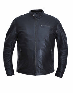 UNIK MEN'S CLASSIC LEATHER MOTORCYCLE SPORTY SCOOTER JACKET - Ghost Rider Leather