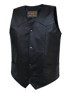 UNIK Men's BIG AND TALL Vest - SKU GRL-612-00-UN - Ghost Rider Leather