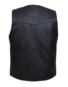 UNIK Men's BIG AND TALL Vest - Ghost Rider Leather