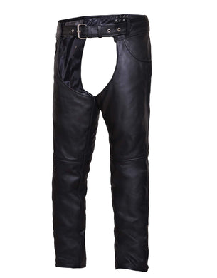 UNIK Unisex Premium Leather Motorcycle Chaps - Ghost Rider Leather