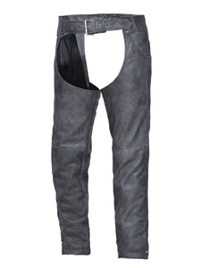 UNIK Tombstone Gray Leather Chaps - SKU GRL-720-GN-UN - Ghost Rider Leather