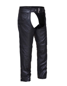 UNIK Unisex Ultra Leather Motorcycle Chaps - Ghost Rider Leather