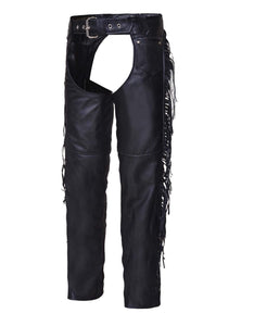UNIK Ladies Premium Leather Motorcycle Chaps - Ghost Rider Leather