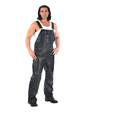 UNIK Men's Premium Leather Chaps Overalls - SKU GRL-815-00-UN - Ghost Rider Leather