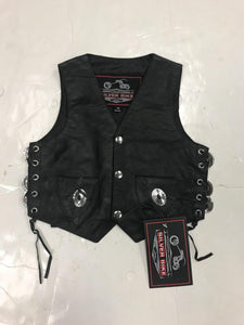UNIK Boy's Premium Leather Vest - Ghost Rider Leather