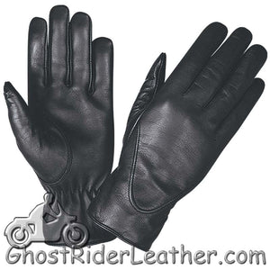 Ladies Full Finger Leather Motorcycle Riding Gloves - SKU GRL-1265.00-UN-leather riding gloves-Ghost Rider Leather