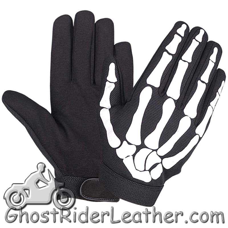 Skeleton Hands Mechanics Gloves - Similar to Storage Wars Barry Weiss / SKU GRL-1484.55-UN - Ghost Rider Leather